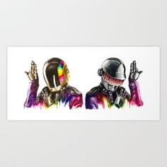 Daft punk  Art Print by Beart24 - $20.80