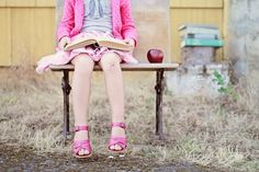 Kindergarten photos and you could do this shot with an older one that loves to read.