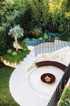This impressive garden makeover cleverly links the terrace and pool area with an inviting entertaining zone. Outdoor Fire, Outdoor Areas, Outdoor Living, Sydney Gardens, Garden Makeover, Back Gardens, Courtyard Gardens, Zen Gardens, Cottage Gardens