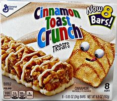Cinnamon Toast Crunch Treats NOW 8 Bars per Box Pack of 6 *** You can get additional details at the image link. Note: It's an affiliate link to Amazon.