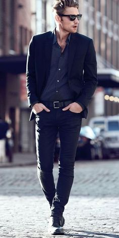 sort of men's business casual style - it's just a good look, plain and simple