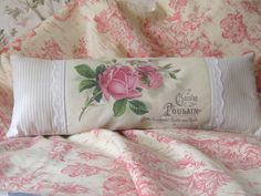 French Roses Chic Shabby Small Accent Pillow