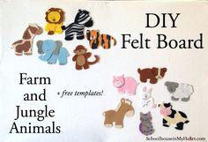 DIY Farm and Jungle Animals (+ free templates!)