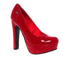 Blink Block Heel Platform Court Shoes
