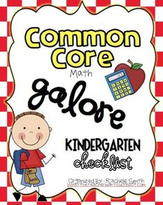 This Common Core State Standards checklist is for Kindergarten {MATH}. It's a great way to organize the Common Core and to make sure you are teaching every part of the core. It's a perfect tool to keep you organized and aware of your students' mastery in each part of the Common Core Math. Once you teach a standard, just write the date and check it off!