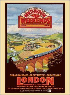London-Edinburgh-England-Great-Britain-Vintage-Travel-Advertisement-Art-Poster