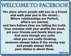 Welcome To Facebook Quotes Friendship Quote Friends Facebook Facebook Quotes Facebook Wall Posts