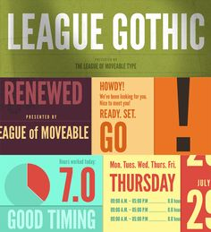 Free Font League Gothic by The League of Moveable Type | Font Squirrel