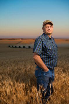 wheat farmer, South Dakota | Jim Richardson, National Geographic