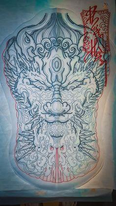 Japanese Artwork, Japan Tattoo, Dragon Artwork, Back Pieces, Lunges, Stencils, Tattoo Designs, Oriental, Waves