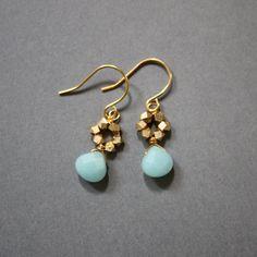 gemma earrings - amazonite