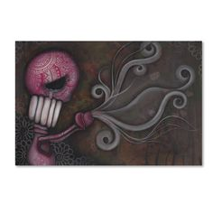 """Trademark Art 'Deception' by Abril Andrade Graphic Art on Wrapped Canvas Size: 16"""" H x 24"""" W x 2"""" D"""