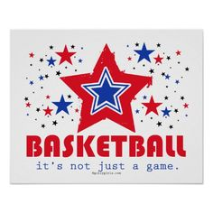 Golly Girls Patriotic USA Stars Basketball Poster