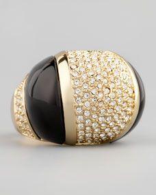 Oct 2013-Domed Crystal Ring, Black