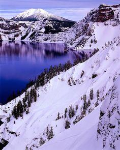 Crater Blues Crater Lake National Park, Oregon, USA Roudney Lough Jr