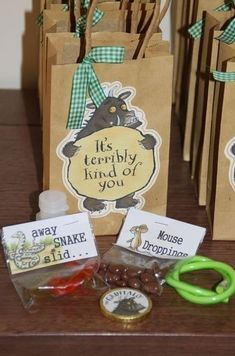Gruffalo themed party bags // Childrens Party Ideas by The Works