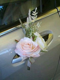 30 Gorgeous Wedding Car Decoration Ideas Decorating wedding car is one of the obligatory traditions! Flowers, flying tapes and balloons will be excellent assistants in this creative process. Trendy Wedding, Diy Wedding, Wedding Flowers, Dream Wedding, Wedding Day, Spring Wedding, Unique Weddings, Bridal Car, Wedding Car Decorations