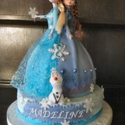 Anna & Elsa Twin Frozen Doll Cake :)