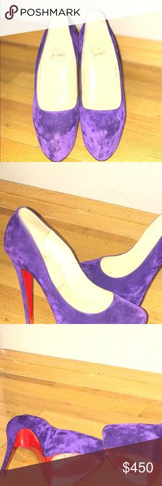 Christian Louboutin Platform pumps Gently used Christian Louboutin purple daffodil pumps Christian Louboutin Shoes Platforms