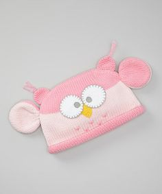 Take a look at this Pink Owl Beanie by Zubels on #zulily today!