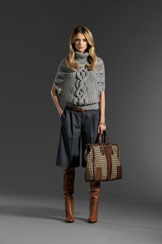 Gucci Pre-Fall 2011: Want. And then I'll move to the east coast. and look like the model wearing the gucci.