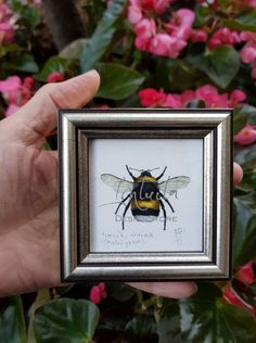 Tiny Bumblebee Framed Giclée Print Bee Family, Humble Bee, Bird Prints, Printing Process, Giclee Print, Watercolor Paintings, Digital Prints, Unique Gifts, Fine Art