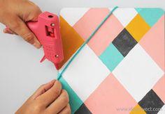 DIY clipboard organizador de pared.