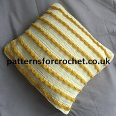 Free Crochet Pattern for a pretty cushion cover. Easy and enjoyable to crochet, available in USA and UK formats.