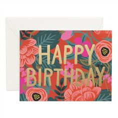 4.50$  Watch now - http://vifyi.justgood.pw/vig/item.php?t=axcwho1123 - Rifle Paper Co. Poppy Birthday Card 4.50$