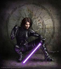 jedi and star wars Bild Star Wars Rebels, Star Wars Rpg, Star Wars Fan Art, Star Wars Jedi, Darth Revan, Darth Caedus, Darth Vader, Mara Jade, Female Jedi