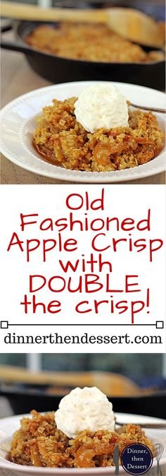 A Fall favorite full of sliced apples, cinnamon, brown sugar, butter and oats baked crisp. Top with whipped cream for a perfect cold weather favorite or top with a scoop of ice cream you're still experiencing this never-ending heat wave with the rest of us.