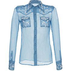 Roberto Cavalli Silk Western Shirt