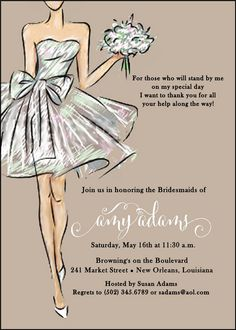 Chalkboard Floral Bridal Luncheon Invitations Paper Style