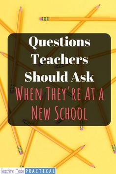 Each school has its own unwritten rules and procedures. When you are a first year teacher or are starting at a new school, knowing the answers to these questions can help you start the school year smoothly. Ask your or grade teammates, othe Teacher Binder, Teacher Tools, Teacher Hacks, Teacher Resources, Teachers Toolbox, Organized Teacher, Teacher Stuff, School Resources, New Teachers