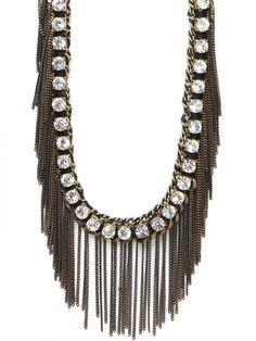 Noir Crystal Cascade - Statement Necklace!