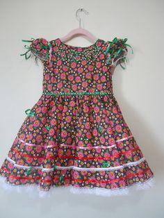 Vestido festa junina infantil +tiara 007