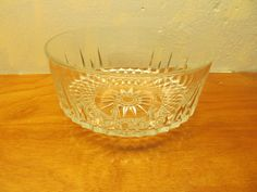 VINTAGE WATERFORD CRYSTAL LISMORE SALAD BOWL FROM ARCOROC FRANCE