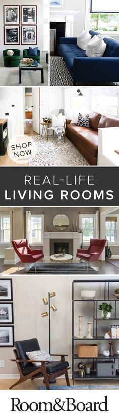 Find real-life inspiration from our customers to help you create your own modern living room. Home Decor Inspiration, Interior, Home, Industrial Livingroom, Room And Board Furniture, Living Room Interior, Industrial Interiors, House Interior, Apartment Decor
