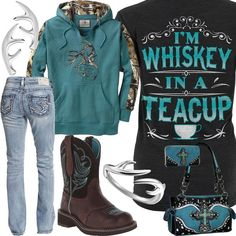 Whiskey In A Teacup Colonial Blue Hoodie Outfit - Real Country Ladies Yellow Raincoat, Camo Hoodie, Hoodie Outfit, Blue Hoodie, North Face Rain Jacket