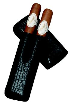 Nice Davidoff Leather two finger cigar case just right for you Davidoff Cigars