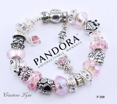 af5a1d9ebff50d A choice - Authentic PANDORA bracelet sterling silver 925 with charms - OR  - Euro silver plated bracelet with charms (P-356)