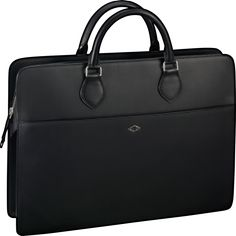 FRANK UNDERWOOD CARRIES THIS AS PRESIDENT IN EP3S2 OF HOC -- Louis Cartier bag - document holder Black calfskin, palladium finish