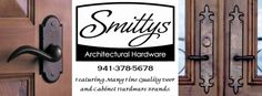 Smitty's Architectural Hardware showcases a variety of quality Door and Cabinet Hardware for the discriminating customer who seeks something ' a little different' and at very competitive pricing.