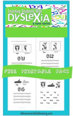 Brand new FREE Dyslexia Worksheet Pack - Overcoming Dyslexia Series