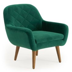 Accord a modern and contemporary style to your home by using this amazing RST Brands Isobel Emerald Green Upholstered Diamond Pattern Accent Chair. Accent Chair Set, Armless Accent Chair, Upholstered Accent Chairs, Black Furniture, Cool Furniture, Fabric Armchairs, Buy Chair, Barrel Chair, Leather Recliner