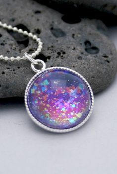 Rainbow galaxy necklace