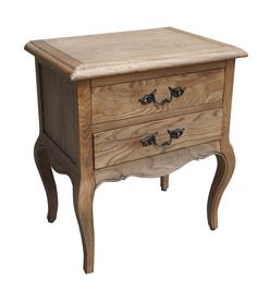 French Provincial Furniture Bed Side Table with 2 drawers in Natural Oak - Wholesales Direct Dream Furniture, Bed Furniture, Furniture Ideas, Indian Bedroom Decor, Bed And Beyond, Mens Bedding Sets, French Country Bedding, Side Table With Drawer