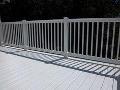 Vinyl Deck with vinyl Handrail