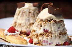 Ice Cream Freeze, Romanian Food, Parfait, Tiramisu, Pinterest Recipes, Sweet Desserts, Baking Recipes, Mousse, Cheesecake
