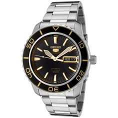 Seiko Men's SNZH57 Seiko 5 Automatic Black Dial Stainless Steel Watch Seiko http://www.amazon.com/dp/B004673QPE/ref=cm_sw_r_pi_dp_yZXJub07FCSVH